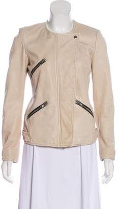 Etoile Isabel Marant Leather Zip-Up Jacket