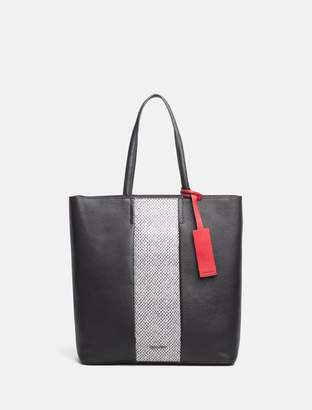 Calvin Klein leather large tote bag