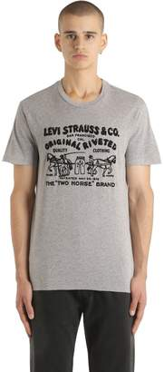 Levi's Flocked Two Horse Cotton Jersey T-Shirt