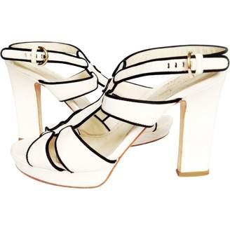 Sergio Rossi White Leather Sandals