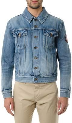 Saint Laurent Denim Jacket With Patch Love Me Forever