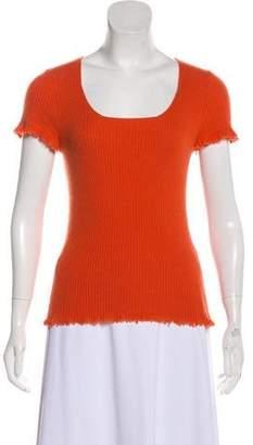 Bottega Veneta Cashmere Short Sleeve Top