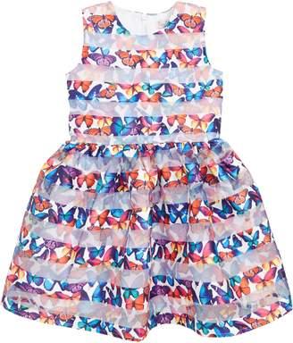 Halabaloo Burnout Stripe Butterfly Party Dress