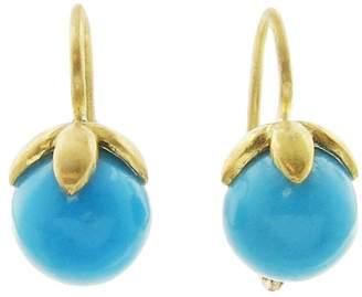 Cathy Waterman Turquoise Star Cap Earrings