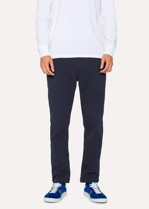 Paul Smith Men's Navy Cotton-Blend Drawstring Pants