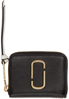 Marc Jacobs Black and Pink Mini Zip Card Case