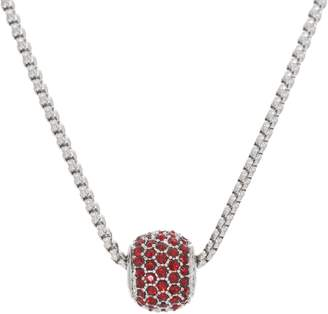 "Stainless Steel Birthstone Crystal Bead Pendant with 18"" Chain"