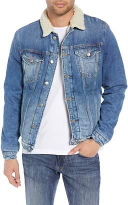 Frame L'Homme Fleece Lined Denim Jacket