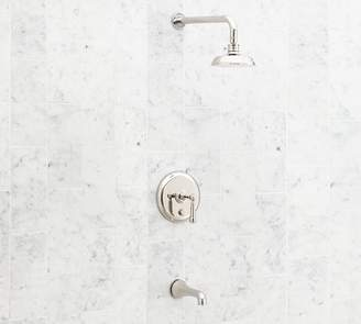 Pottery Barn Reyes Pressure Balance Lever-Handle Bathtub & Shower Faucet Set
