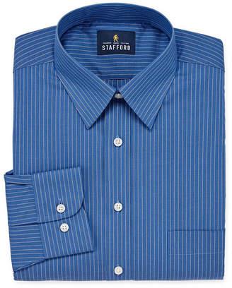 STAFFORD Stafford Travel Stretch Performance Super Shirt Big And Tall Mens Point Collar Long Sleeve Wrinkle Free Stretch Dress Shirt