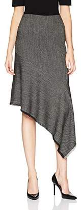 Anne Klein Women's Twill Asymmetric Ruffle Skirt