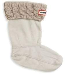 Hunter Little Girl's Six-Stitch Cabled Boot Socks