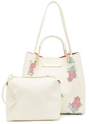 Betsey Johnson Rose Studded Tote