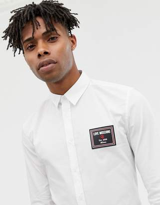 Love Moschino chest placket shirt