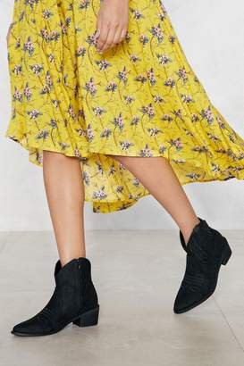 Nasty Gal Thread Carefully Faux Suede Boot