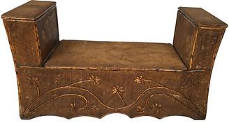 One Kings Lane Vintage Antique English Hall Bench with Storage - Von Meyer Ltd.
