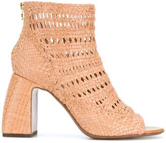 L'Autre Chose woven perforated boots
