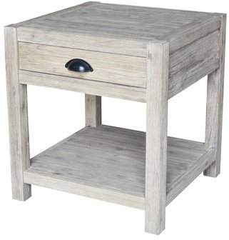 INC International Concepts Modern Rustic End Table
