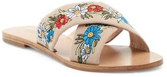 Raye Sully Embroidered Slide Sandal