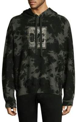 Dim Mak Ramsey Patterned Cotton Hoodie