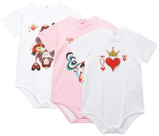 Dolce & Gabbana Queen of Hearts Bodysuits (Set of 3)