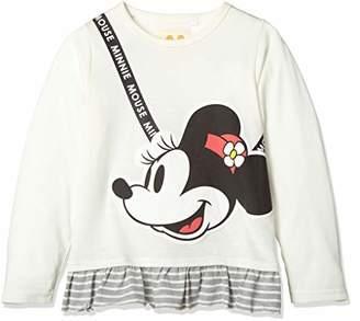 Disney (ディズニー) - [ディズニー] ミニー裾フリルTシャツ 332228026 ガールズ シロ 日本 120 (日本サイズ120 相当)