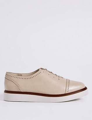 Marks and Spencer Leather Flatform Brogue Shoes