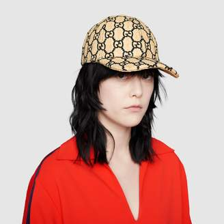 Gucci GG baseball hat with snakeskin