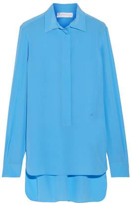 Victoria Beckham Silk Crepe De Chine Shirt - Azure