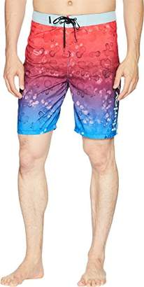 "Hurley Men's Apparel Men's Splatter Grain 20"" Recycled Supersuede Boardshort"