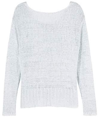 J Brand Nero Ice Blue Open-knit Jumper