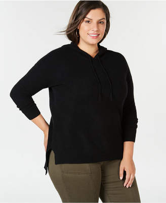 Charter Club Plus Size Pure Cashmere Thermal Hoodie