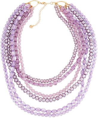 Lydell NYC Multi-Row Crystal Bead Necklace