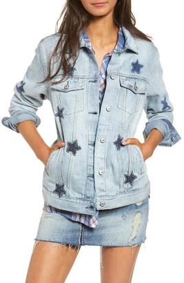 Women's The Rails Knox Star Denim Jacket $228 thestylecure.com