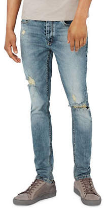 Topman Ripped Stretch Skinny Jeans