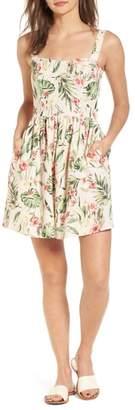 Speechless Tropical Lace Back Minidress