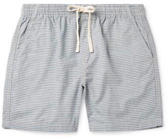 J.Crew Dock Striped Cotton-Chambray Drawstring Shorts - Men - Light blue