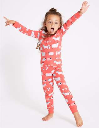 Marks and Spencer Cotton Pyjamas with Stretch (1-7 Years)