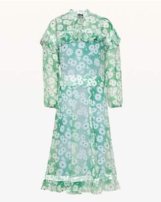 Juicy Couture Washed Daisy Ruffled Midi Dress