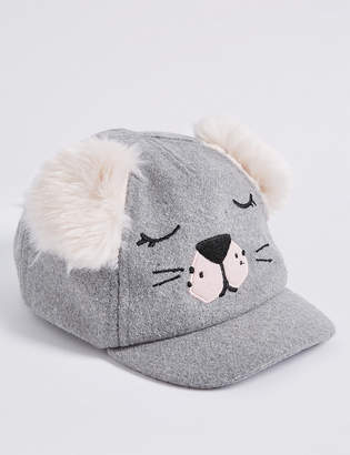 ad949bd70492 Marks and Spencer Kid s Fur Eared Novelty Baseball Cap (6 Months - 6 Years)