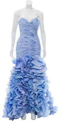 Jovani Strapless Ruffled Gown w/ Tags