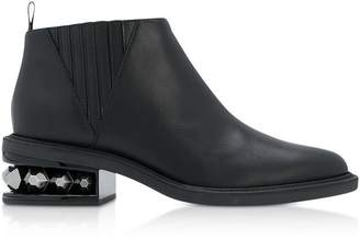 Nicholas Kirkwood Black Leather 35mm Suzi Chelsea Boots