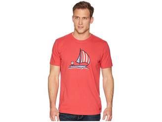 Life is Good Americana Sailboat Crusher Tee