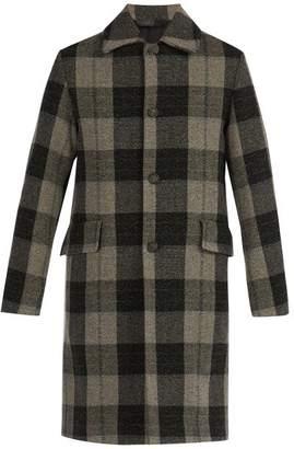 Acne Studios Checked Wool Coat - Mens - Grey
