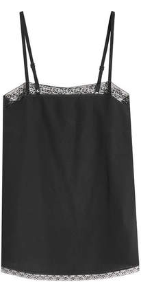 Zadig & Voltaire Carmen Silk Camisole with Lace