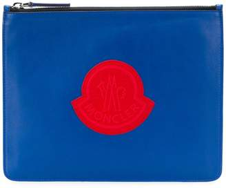 Moncler embroidered logo clutch