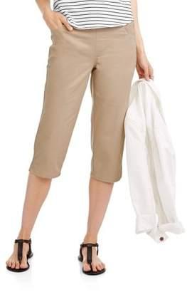 Real Size RealSize Womens 5-Pocket Stretch Capri