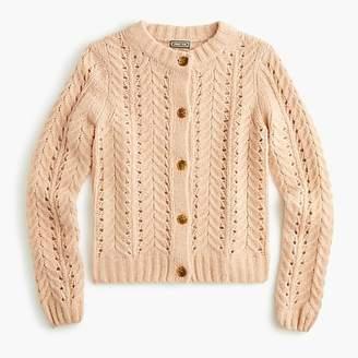 Point Sur pointelle knit cardigan sweater