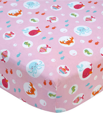 Carter's Sea 100% Cotton Graphic-Print Fitted Crib Sheet Bedding