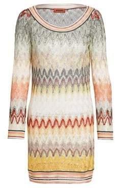 Missoni Long-Sleeve Knit Shift Dress